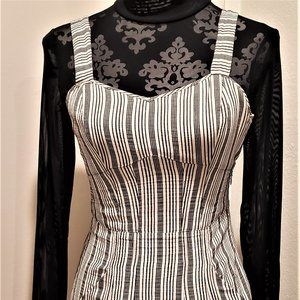 Theory Siadry Black & White Maxi Dress